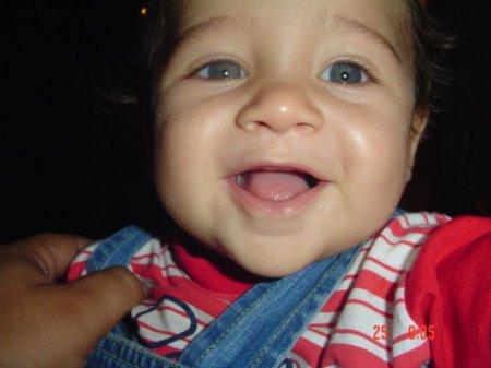 Esse bebê lindo é o Thiago, afilhado do Léo do Rio de Janeiro